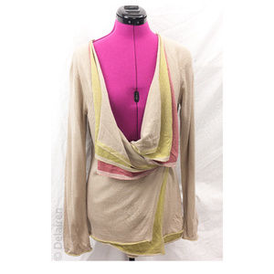 Knitted & Knotted Draped Layered Cardigan